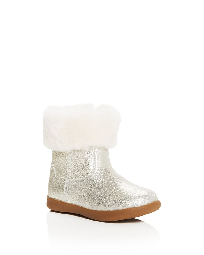 UGG® - Girls' Jorie II Nubuck Leather & Shearling Booties - Walker, Toddler, Little Kid