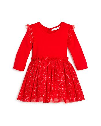 Elegant Baby - Girls' Glitter-Dot Tutu Bodysuit Dress - Baby
