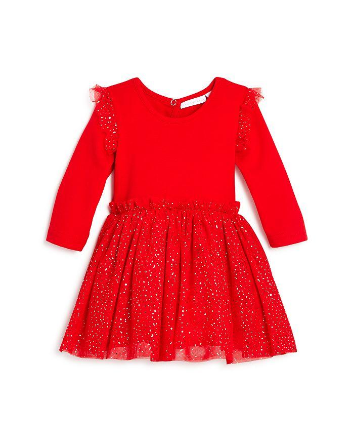 Elegant Baby - Girls' Glitter-Dot Tutu Bodysuit Dress - Baby