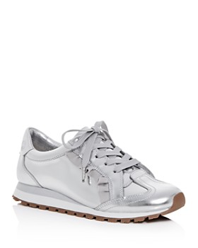 b5871dfae88207 Tory Sport - Women s Ruffle Trainer Leather Lace Up Sneakers ...