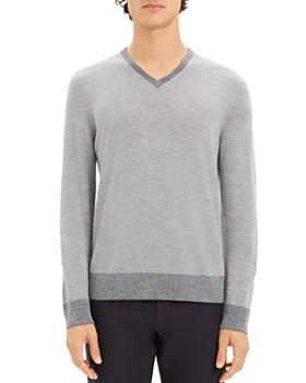 Theory - Rothley Merino Wool V-Neck Sweater