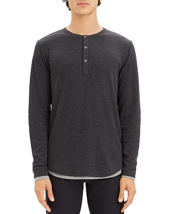 15e31b939ec Theory Double Layer Henley - 100% Exclusive | Bloomingdale's