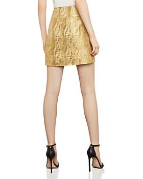 BCBGMAXAZRIA -  Metallic Jacquard Mini Skirt