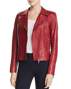 Lafayette 148 New York - Mary-Kate Leather Moto Jacket