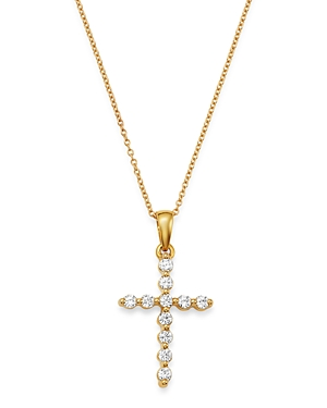 Bloomingdale's Diamond Cross Pendant Necklace in 14K Yellow Gold, 0.25 ct. t.w. - 100% Exclusive