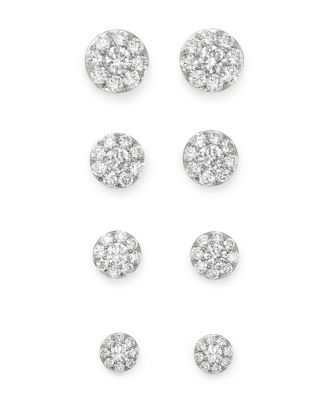 Diamond Circle Large Stud Earrings in 14K White Gold, 2.0 ct. t.w. - 100% Exclusive