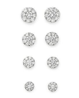 Bloomingdale's - Diamond Circle Stud Earrings in 14K White Gold - 100% Exclusive