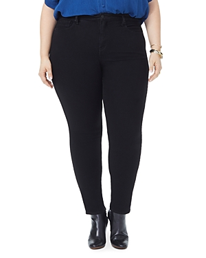 Nydj Plus Ami Skinny Jeans in Black