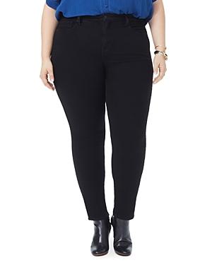 Nydj Plus Ami Skinny Jeans in Black