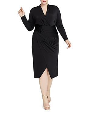 Rachel Roy Plus Bret Faux-Wrap Dress
