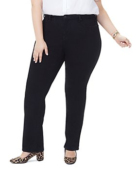 NYDJ Plus - Barbara Bootcut Jeans in Black