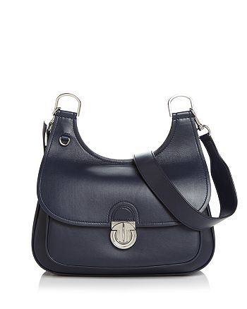 Tory Burch - James Medium Leather Saddle Bag