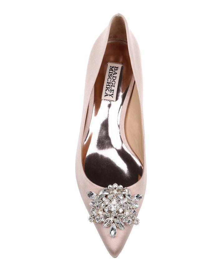 2794f5125e2 Badgley Mischka Women s Vail Pointed Toe Satin Kitten Heel Pumps ...
