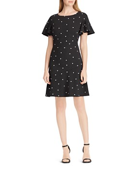 Ralph Lauren - Print Fit-and-Flare Dress