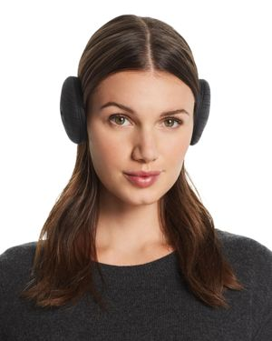 U/R Active Bluetooth Faux Fur-Lined Earmuffs in Black Heather