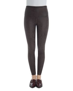 LYSSÉ Vegan Leather Leggings in Chestnut