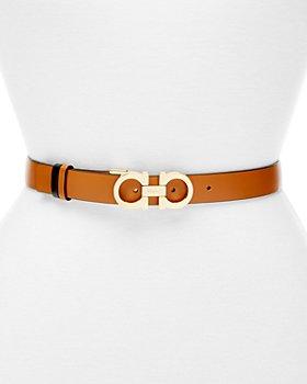 Salvatore Ferragamo - Women's Gancini Slim Reversible Leather Belt