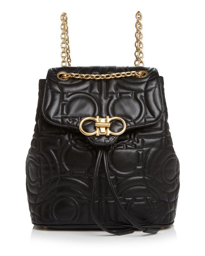 Salvatore Ferragamo Medium Quilted Leather Backpack    Bloomingdale's