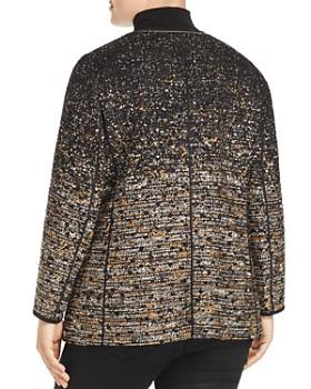 Lafayette 148 New York Plus - Karina Ombré Metallic Tweed Jacket