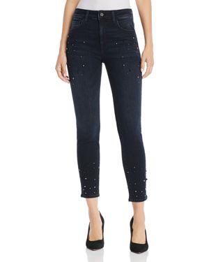 MAVI JEANS Tess Embellished Skinny Jeans In Ink Pearl