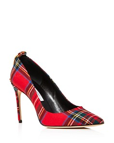 Brian Atwood - Women's Voyage Pointed Toe Plaid High-Heel Pumps