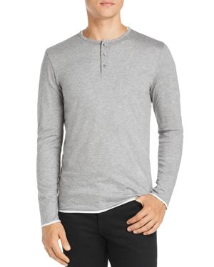 BOSS TEXTOR LONG-SLEEVE LAYERED HENLEY