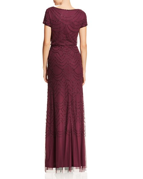 Adrianna Papell Beaded Blouson Gown | Bloomingdale\'s