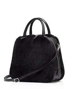 VASIC - Madison Small Leather & Faux Fur Crossbody