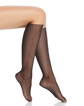 Wolford - Adeline Studded Mesh Knee-High Socks