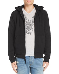 John Varvatos Star USA - Faux Shearling-Lined Knit Hoodie
