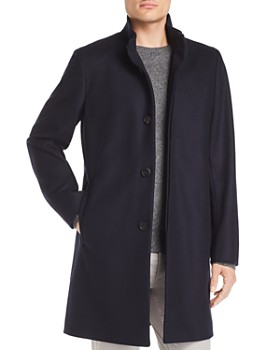 7d8dc6ecbe1 Theory - Belvin Button-Front Topcoat ...