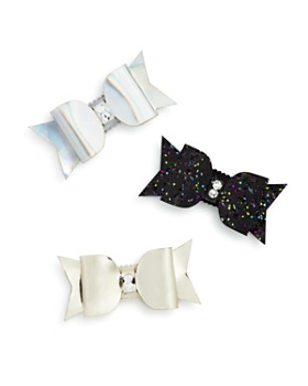 GiGi - Girls' Bow Hair Clips with Swarovski Crystals, Set of 3, 100% Exclusive - Ages 3+