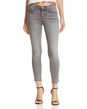 Blanknyc Rhinestone-Trim Skinny Cropped Jeans in Skyscraper