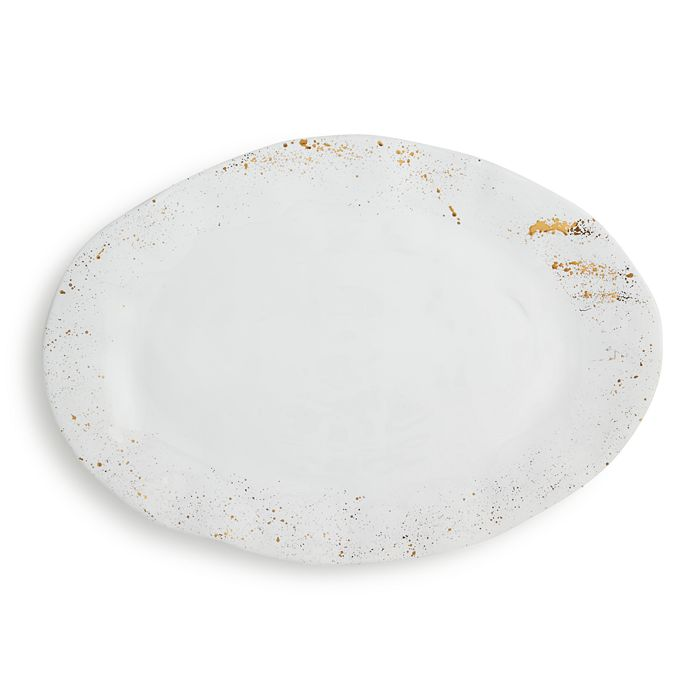 VIETRI - Gold Splatter Oval Platter - 100% Exclusive