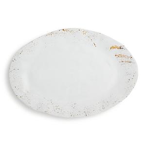 Vietri Gold Splatter Oval Platter - 100% Exclusive