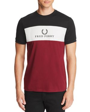 Fred Perry Embroidered-Logo Color-Block Tee