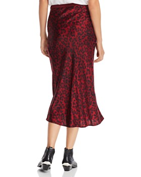 Anine Bing - Bar Leopard Silk Skirt