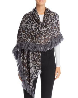 GAYNOR Spotty Leopard Print Scarf - 100% Exclusive in Black/Leopard