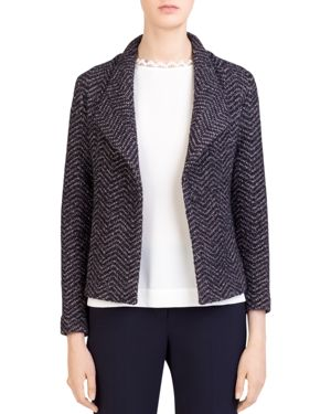 Gerard Darel Selma Chevron-Tweed Knit Blazer