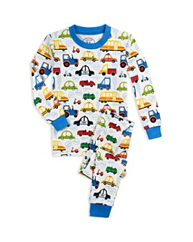 Sara's Prints - Girls' Cartoon Car Pajama Shirt & Pants Set - Little Kid