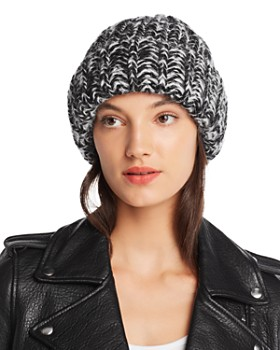 AQUA - Marled Rib-Knit Beanie - 100% Exclusive