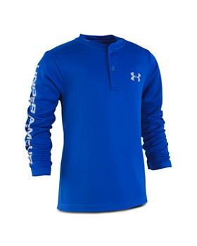 Under Armour - Boys' MVP Waffle Knit Henley Shirt - Little Kid