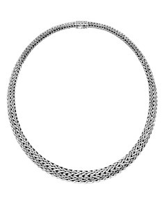"JOHN HARDY - Sterling Silver Classic Chain Graduated Necklace, 16""L"