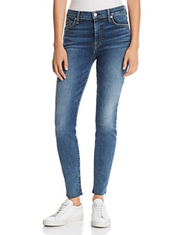 7 For All Mankind - High Waist Ankle Skinny Jeans in B(air) Authentic Luck
