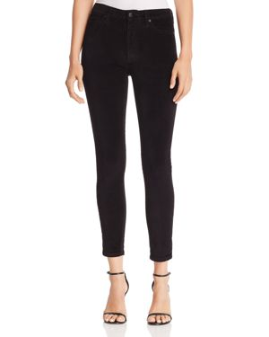 Joe's Jeans Velvet Skinny Jeans in Black