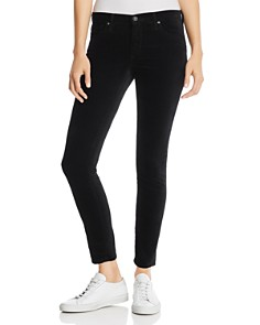 AG - Velvet Ankle Legging Jeans in Super Black