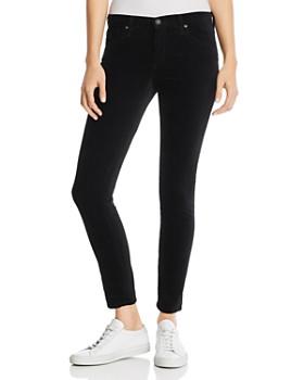 AG - Velvet Ankle Legging Jeans in Super Black