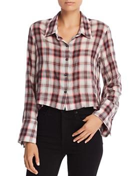 Splendid - Plaid Cropped Shirt