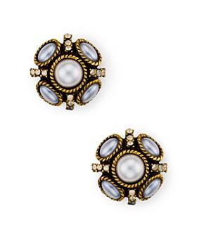 Oscar de la Renta - Button Stud Earrings