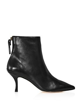 Stuart Weitzman - Women's Juiper 70 Leather Pointed Toe Booties